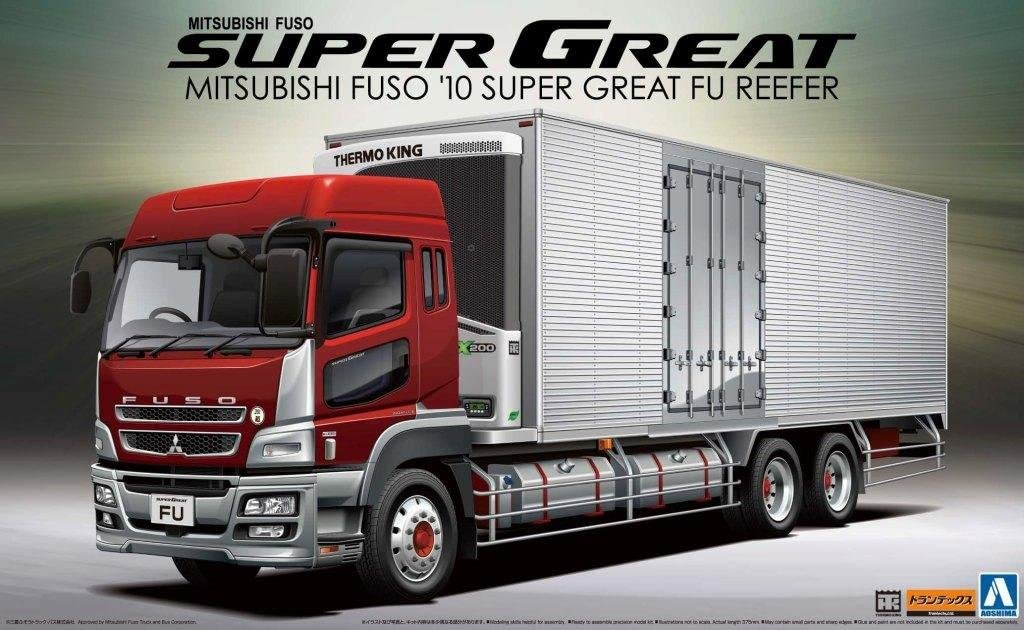 1/32 Mit FUSO Reefer Truck with Side Cargo Doors 7197pUqKmJL