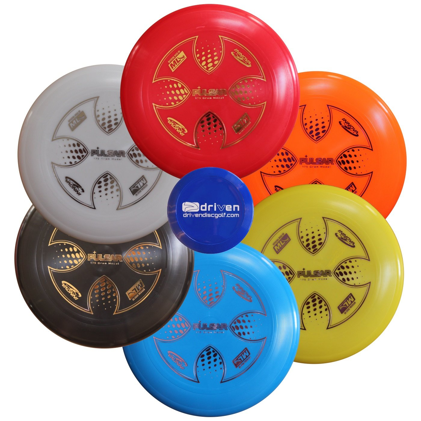 Innova MLU Pulsar 6 Disc Set - 175 gram Major League Ultimate Disc