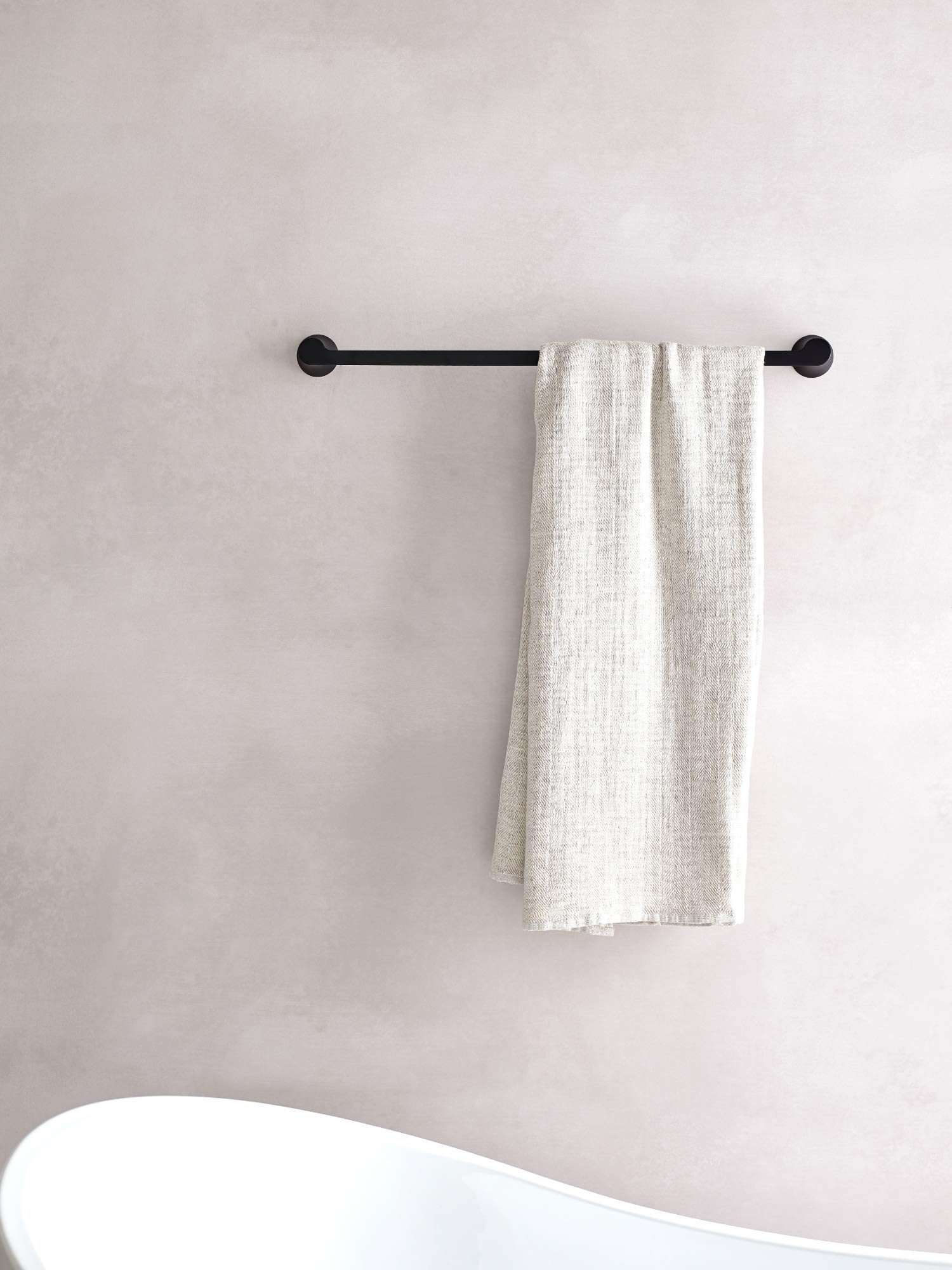 Moen YB0224BL Doux Collection 24'' Towel Bar Matte Black by Moen (Image #4)