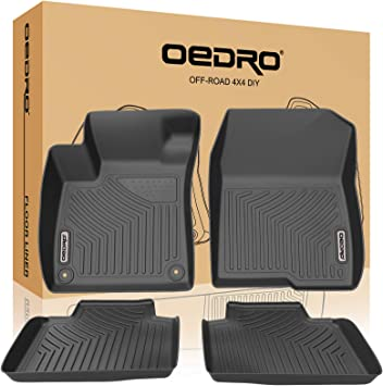 2 Clip 04-08 RUBBER DRIVERS FLOOR CAR MAT TAILORED HONDA ACCORD