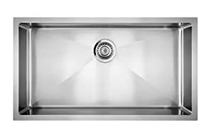 Blanco 519548 Quatrus R15 Under Mount Single Bowl Kitchen Sink, Large, Stainless Steel