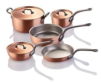 FALK - Juego de 8 piezas de cocinero de cobre faldo: Amazon.es: Hogar