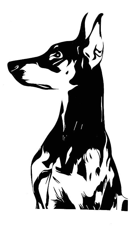Doberman Pinscher Head Mascot Car Bumper Sticker Decal /'/'SIZES/'/'