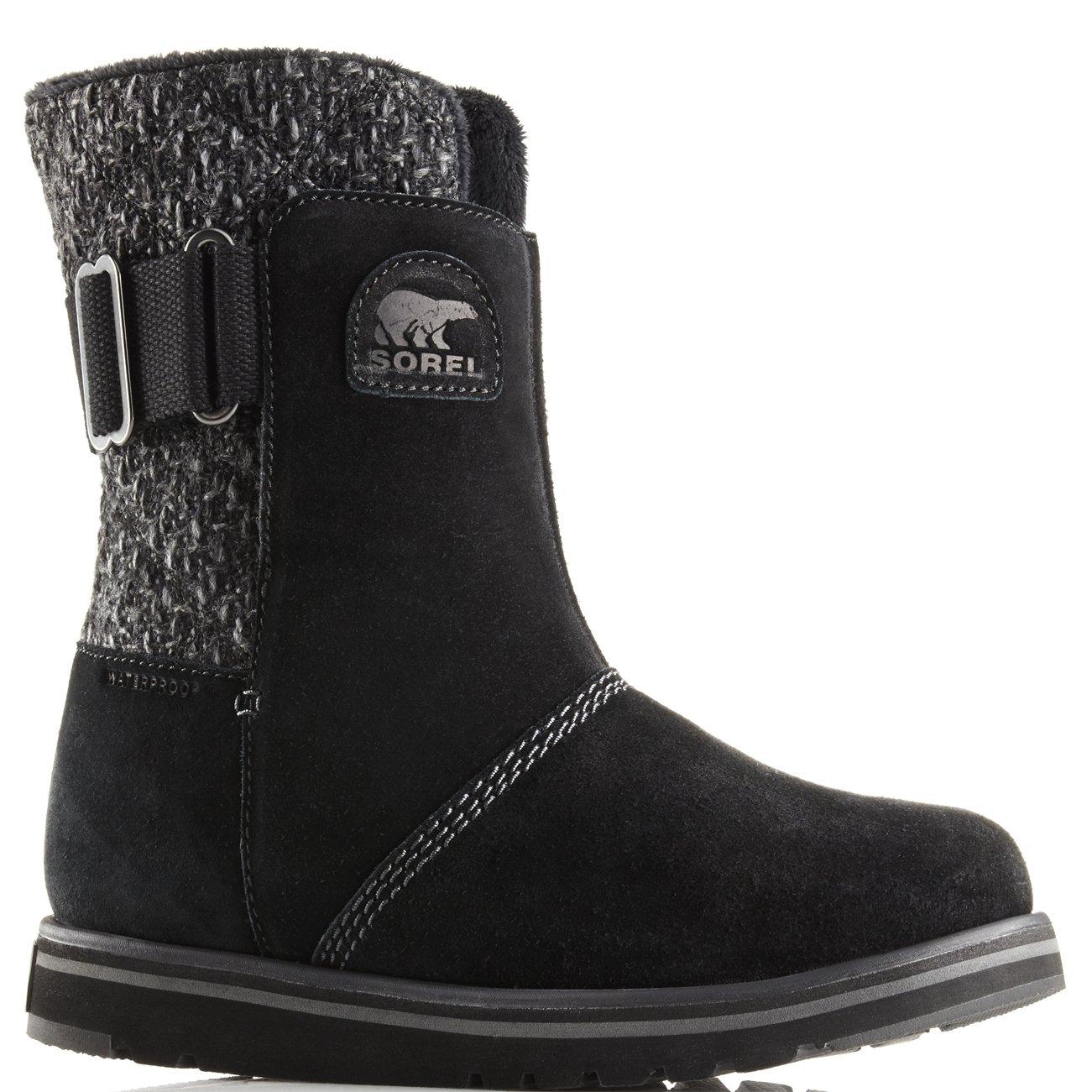 Womens Sorel Rylee Snow Warm Suede Winter Mid Calf Rain Waterproof Boots - Black - 8