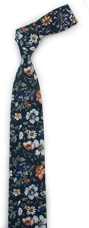 Toma De Corriente Mejor Lugar Ruth&Boaz Men's Handmade Skinny Floral Printed Necktie H tYq0qd Ed1Wgl