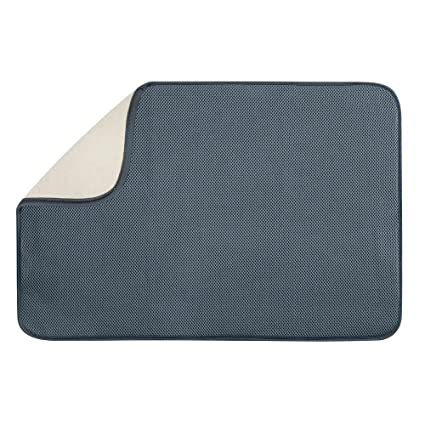 Idesign Idry Thin Quick Drying Dish Drainer Board Mat Made Of
