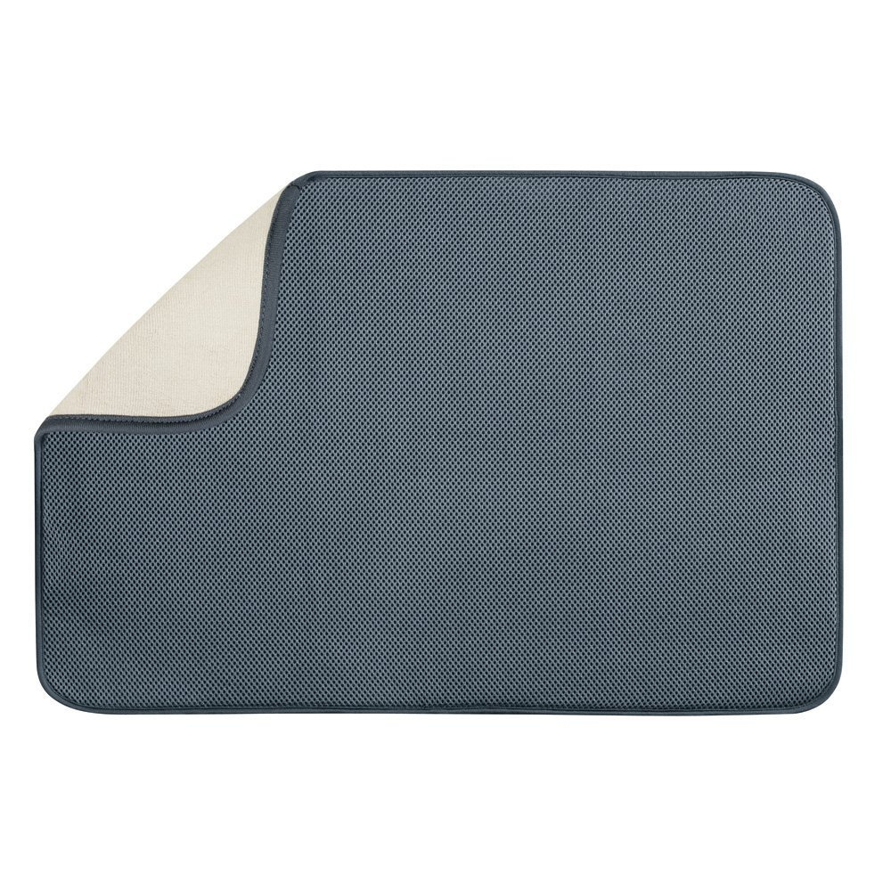 InterDesign 24 by 18-Inch iDry Mat, X-Large, Pewter/Ivory