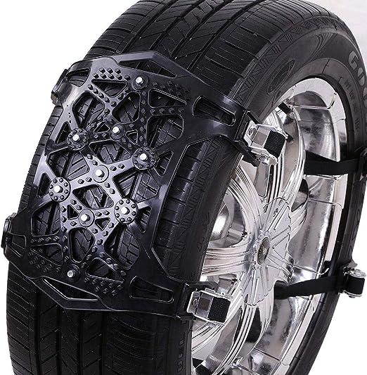 Sunwan 6 X Auto Reifen Schlammketten Rutschfeste Stahlketten Einfache Installation Schwarz Auto