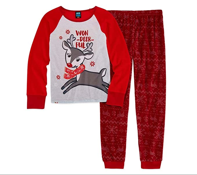 e62970b17 Amazon.com  Jellifish Kids Girls Jelli Fish Christmas Won-Deer-Ful ...