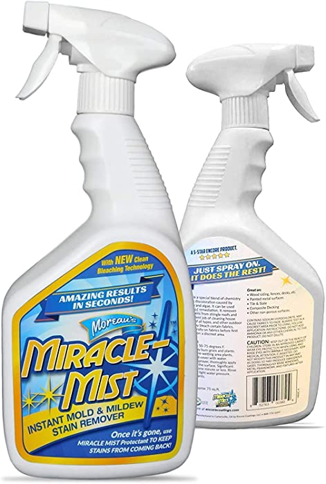 MiracleMist ENCRMMIC4 Instant Mold and Mildew Stain Remover (32-Ounce Spray Bottle), Blue