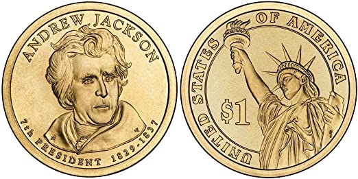 2008 P/&D John Quincy Adams Presidential One Dollar Coin From U.S Mint Money