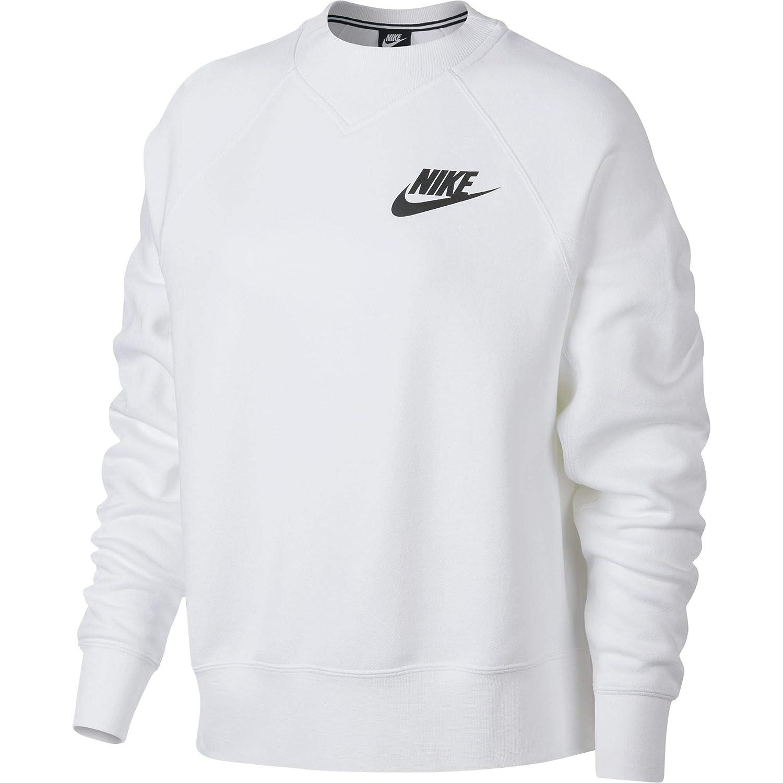 Nike W Nsw Rally Crew Rib Langarm Shirt für Damen, Weiß