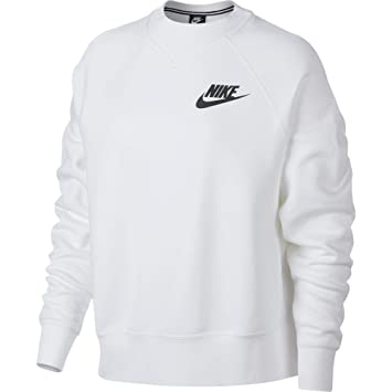 Nike W NSW Rally Crew Rib - Camiseta de Manga Larga, Mujer, Blanco(White/Black): Amazon.es: Deportes y aire libre