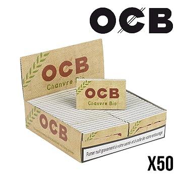 OCB - 50 cajas de papel de fumar de cáñamo natural (50 hojas): Amazon.es: Hogar