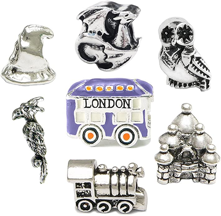 Amazon.com: Harry Potter Inspired Charm Set #8 - Compatible With ...