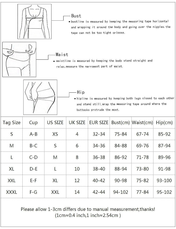 MinYuocom Mujer Traje de Baño Dos Piezas Bikini Set Cintura Alta MZF1611: Amazon.es: Ropa y accesorios
