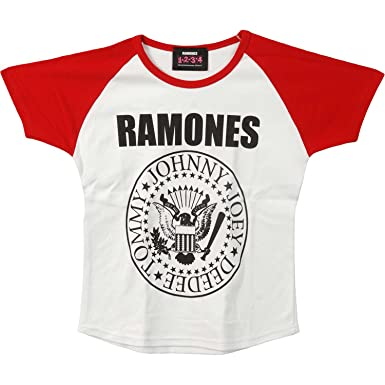 12c26449 Amazon.com: Ramones Presidential Seal Junior Top Red/White: Clothing