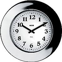 Alessi Aleesi 11 Momento Wall Clock INOX, Silver