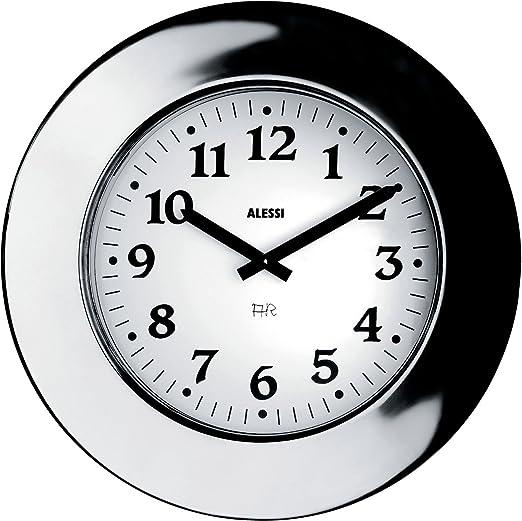 Amazon.com: Alessi Aleesi 11 Momento Wall Clock Inox Silver: Home & Kitchen