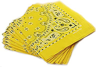 Trebien Pack de 12(100% Algodón) Pañuelos Bandanas Cuadrada de ...
