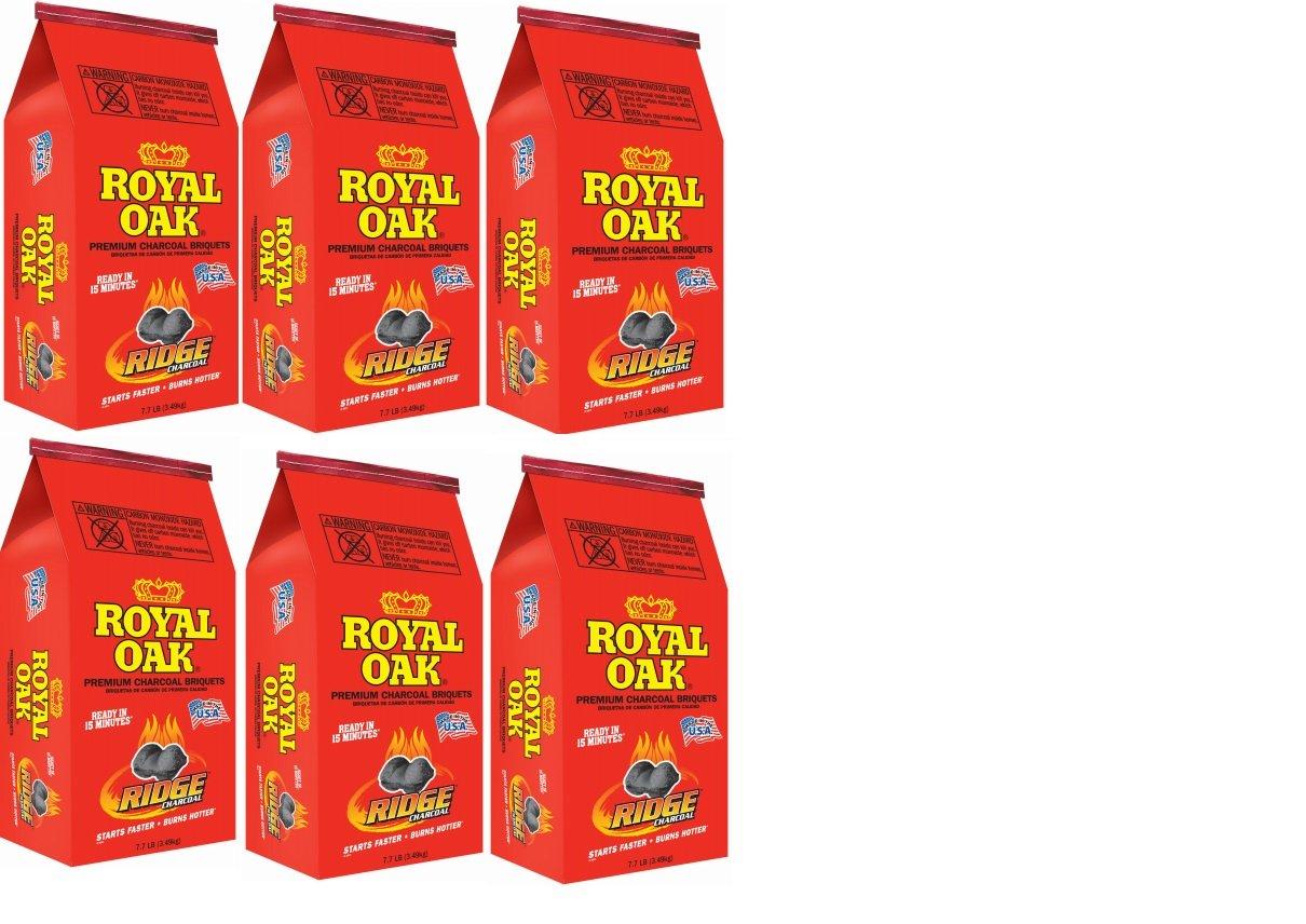 Case of 6 - Royal Oak, 7.7 LB, Premium Charcoal Briquettes by Roy