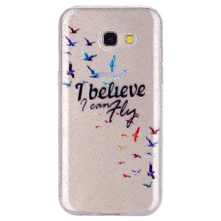 MoreChioce Funda Compatible con Galaxy A5 2017 Silicona, Moda ...
