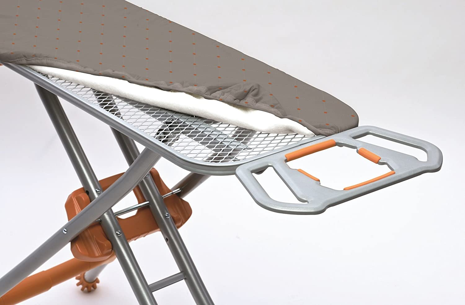 Homz Durabilt DX1500 Premium Steel Top Ironing Board with Wide Leg Stability Adjustable up to 39.5
