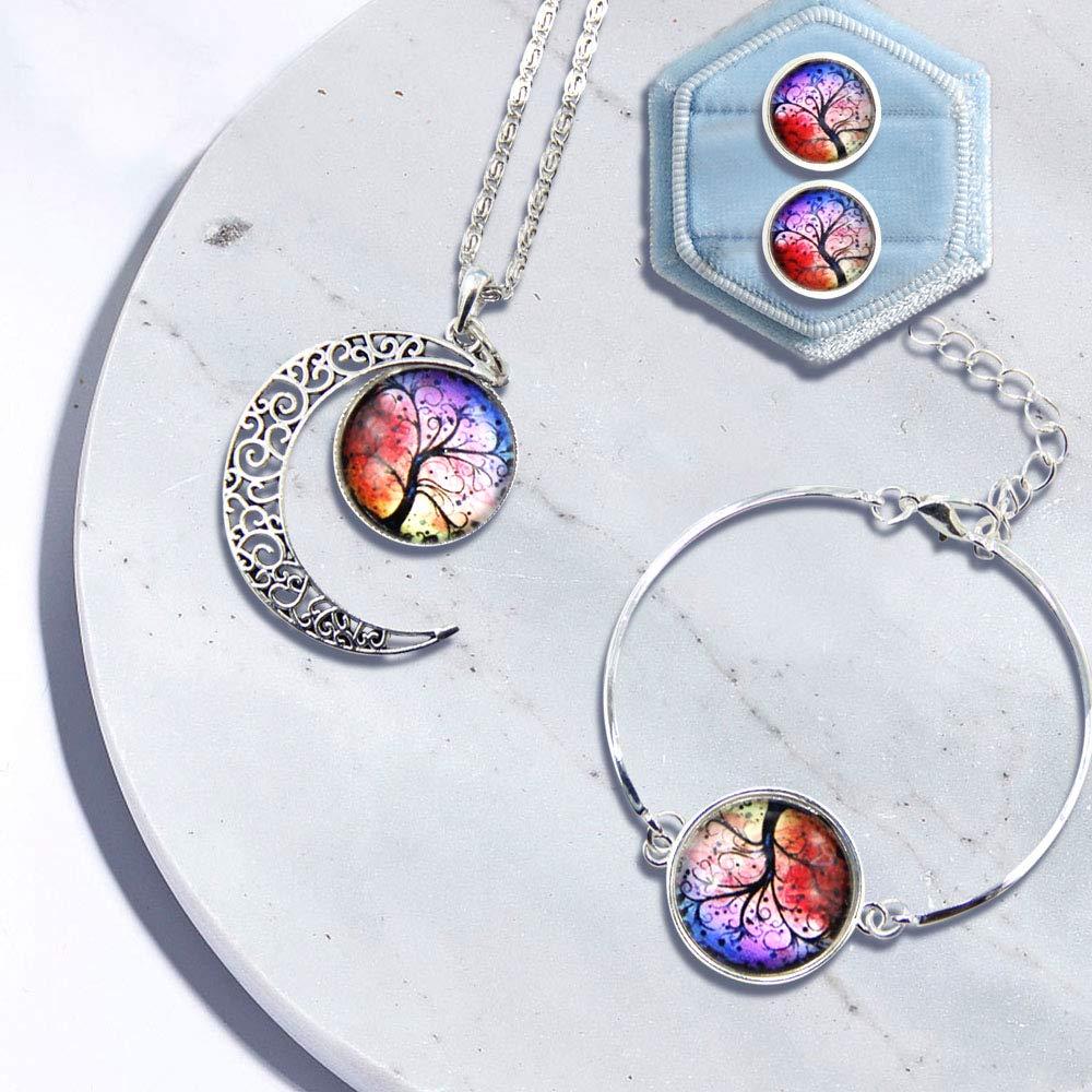 Coffret Cadeau pour Femme Fille pour No/ël Anniversaire la Saint-Valentin et F/êtes Ranikeer Bijoux Parure Femme Collier Bracelet et Boucles d/'Oreilles Ensemble de Bijoux Fantaisie