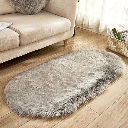 Tappeto del Soggiorno Ellittico, Tappeti camera da letto accogliente  Tappeti camera dei bambini Imitato lana ovale tappeto vivaio Home Decor per  ...