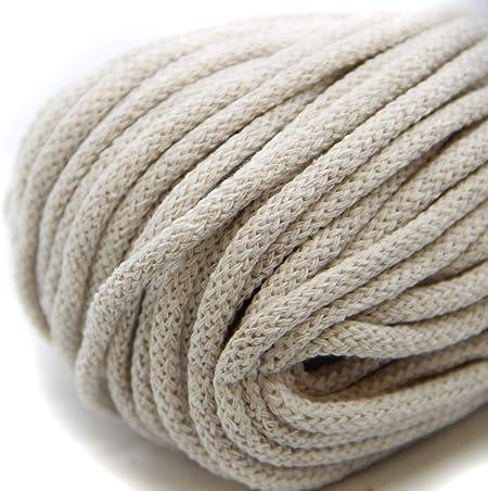 NTS Nähtechnik - Hilo de algodón para ganchillo con núcleo (50 m, 6 mm de ancho): Amazon.es: Hogar