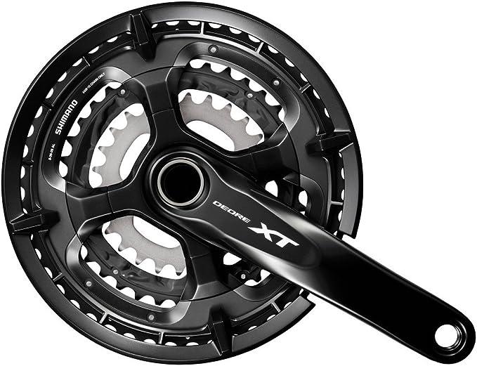 SHIMANO FC-M371 Crank Set Trekking Square 9-speed 48-36-26 teeth black 2020 Chainsets Mountain bike