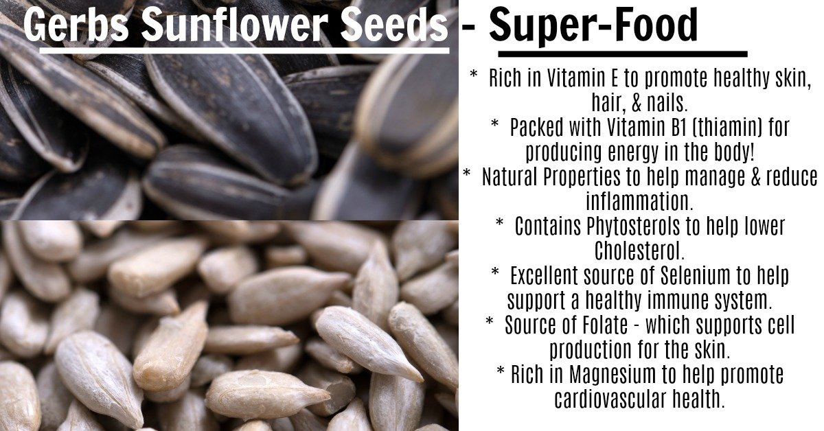 GERBS Unsalted Whole Sunflower Seeds by 4 LBS - Top 12 Food Allergy Free & NON GMO - Vegan & Kosher - In-Shell Dry Roasted Seeds Grown in USA by GERBS (Image #3)