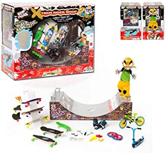XTREM Shop - Grip&Tricks -Big Gift Set of Finger Scooter Stunt - Finger Skates - Roller - BMX - Scooter – RAMPS
