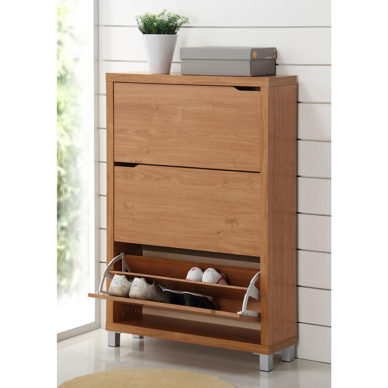 Amazon.com: Baxton Studio Simms Modern Shoe Cabinet, Maple: Home U0026 Kitchen