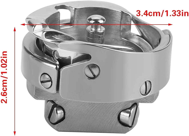 SALAKA Piezas de la m/áquina de Coser de Plata Lanzadera de Gancho Giratorio Caja de la Bobina Accesorios para m/áquinas de Coser industriales