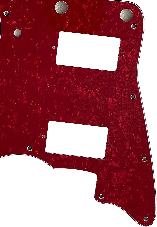 Guitar Parts For Fender US Jazzmaster PAF No Upper Control Guitar Pickguard 3 Ply Black