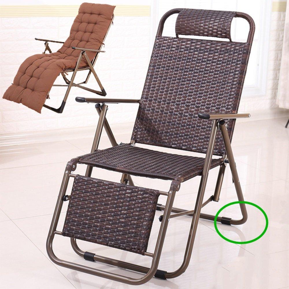 XXHDYR Klappstuhl Recliner Büro Siesta Stuhl Mittagspause Stuhl Fauler Stuhl Ältere Stuhl Freizeit Strandkorb Klappstuhl (Farbe : D)