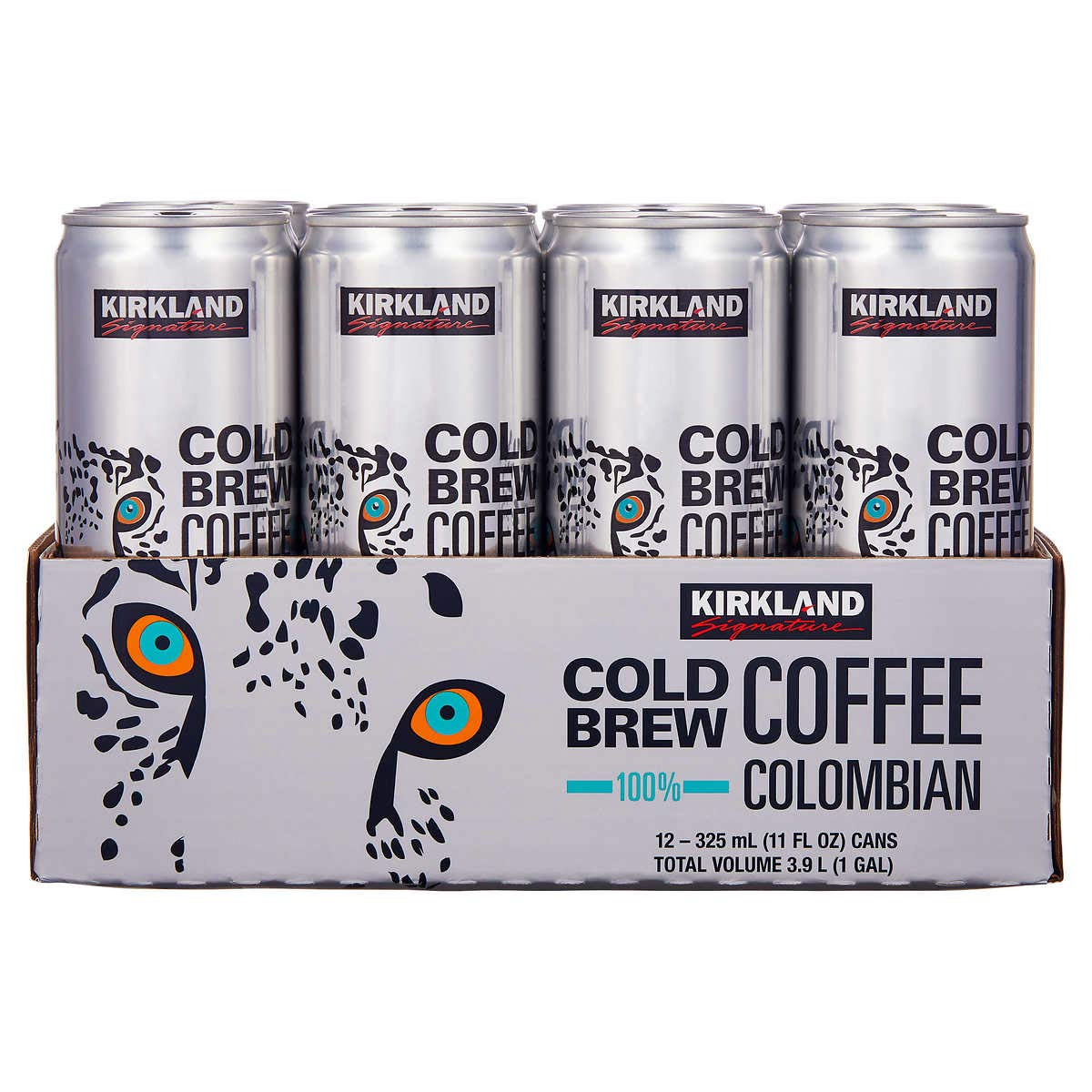 KIRKLAND SIGNATURE Signature Cold Brew Colombian Coffee 12 Cans /11 Fl Ounce Net Wt 132 Fl Ounce: Grocery & Gourmet Food