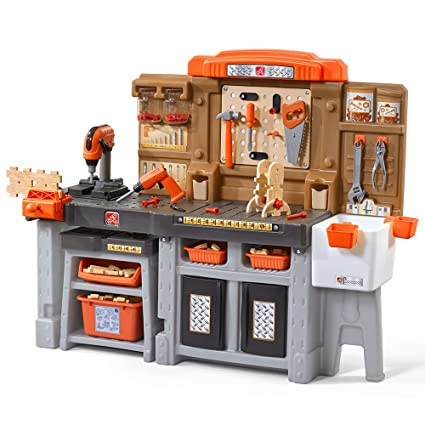 .com: step2 489099 pro play workshop & utility bench: toys & games