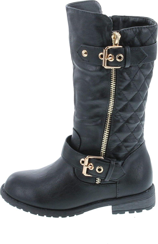 Link Mango-21k Little Girls New Knee High Flat Riding Boots Shoes