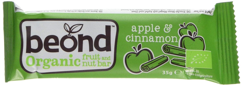 Beond Organic Fruit Bar - Apple Cinnamon 18 x 35g bars | Organic | Gluten Free | Dairy Free | Soya Free | Vegan 18BCA