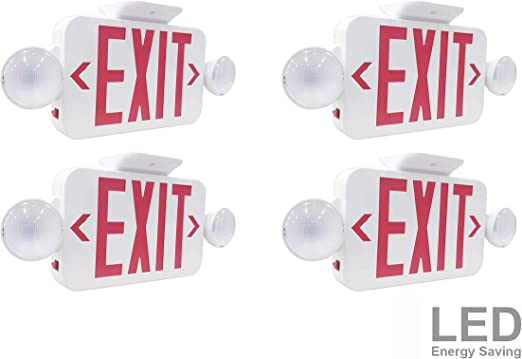 Amazon.com: LIT-PaTH LED Combo Señal de salida de emergencia ...