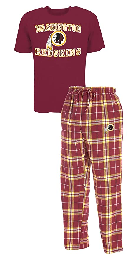 aadefd2be5d038 Image Unavailable. Image not available for. Color: Concepts Sport Washington  Redskins NFL Great Duo Men's T-Shirt & Flannel Pajama Sleep Set