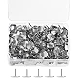 SUMAJU Thumb Tacks, 400pcs Metal Drawing Pins Pushpins Thumbtacks for Office or DIY Hanging Memos and Pictures, Silver