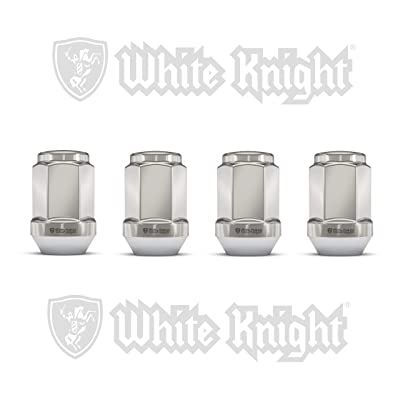 White Knight 1909ST-4 Stainless Steel Capped Acorn Lug Nut - 4 Piece: Automotive