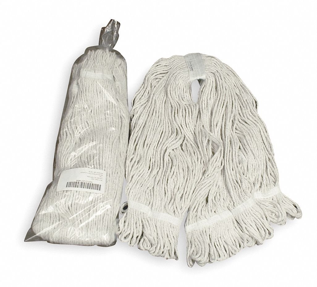 Mop Head, Wet, Looped-End, Natural, 22 oz., 40''