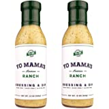 Keto Ranch Salad Dressing and Dip by Yo Mama's Foods - (2) Bottles - Low Carb, Gluten Free, and Dairy Free!