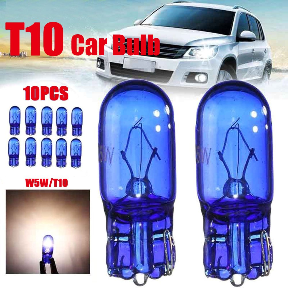 CALISTOUK 10Pcs Car 194 Cool White 5W 8000K XENON Halogen Bulb
