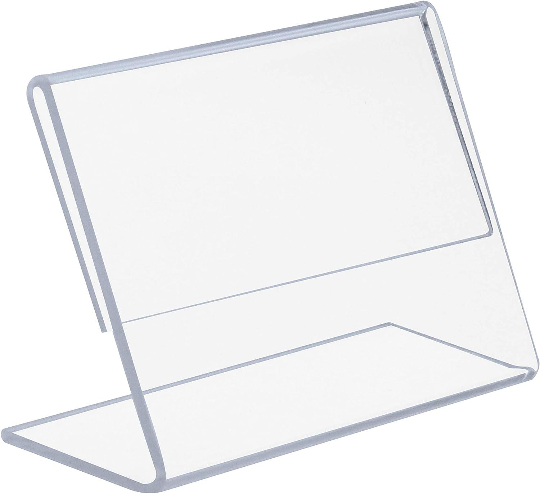 Acrylique Transparent A7 L-Stand OPUS 2 Pr/ésentoir de Table 350126 Vertical