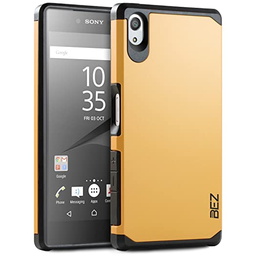 4 opinioni per Cover Sony Xperia Z5, BEZ® Cover Protettiva con Impact Absorbing [Protezione